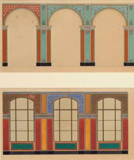 Designs for the decoration of the Oriental Courts (detail), Owen Jones, 1863 – 64