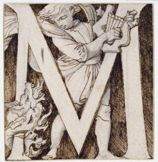 Design for an illustrated alphabet tile, Godfrey Sykes, 1864