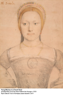 Young Woman in a French Hood, possibly Mary Zouch by Hans Holbein the Younger c1533