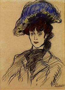 The Woman in the Blue Hat (Jane Avril), 1901