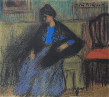 Seated Woman with a Shawl, 1899