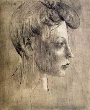Head of a Woman, in Profile, 1905