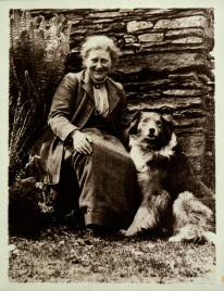 Beatrix Potter with Kep at Hill Top